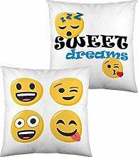 Cojín Con Relleno Emoji Sweet Dreams (40 X 40 Cm)