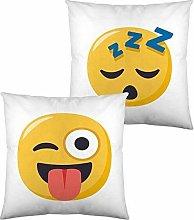 Cojín Con Relleno Emoji Winking Face With Tongue