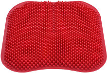 Cojin de asiento de masaje para coche silicona rojo