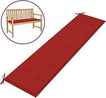 Cojín de banco de jardín rojo 200x50x3 cm - Rojo