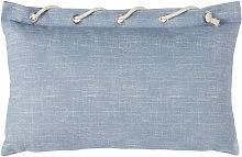 Cojín de exterior azul con cuerda 30x30