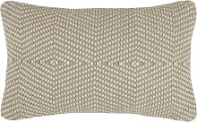 Cojín de exterior tejido beige 30x50