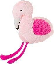 Cojín de flamenco infantil rosa de poliéster de