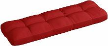 Cojin de sofa de jardin tela rojo 120x40x12 cm