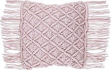 Cojín decorativo 40x40 cm rosa YANIKLAR