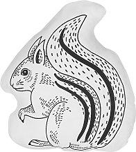 Cojín decorativo ardilla blanco/negro 42x48 cm