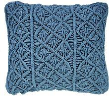 Cojín decorativo azul oscuro 45x40 cm GOREME