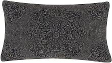 Cojín decorativo de algodón 30x50 cm gris oscuro