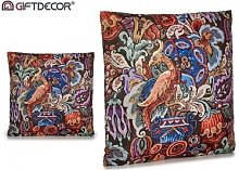 Cojín Decorativo de Terciopelo Pájaro Rojo.