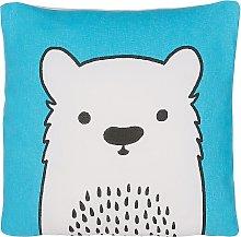 Cojín decorativo oso azul 45x45 cm WARANASI