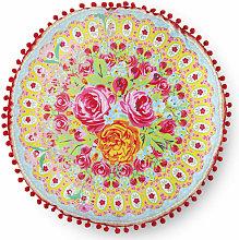 Cojín decorativo WILD ROSE rojo 55x55 cm -