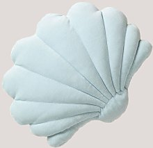 Cojín en Terciopelo Perly Terciopelo Azul Bruma -
