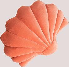 Cojín en Terciopelo Perly Terciopelo Coral -