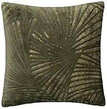 Cojín Lleno Decorativo Verde Oro