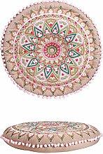 Cojín oriental multicolor de algodón de 55 cm de