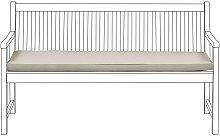 Cojín para banco de jardín 152x54 cm beige VIVARA