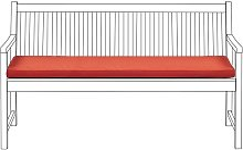 Cojín para banco de jardín 152x54 cm terracota