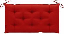 Cojin para banco de jardin tela rojo 100x50x7 cm