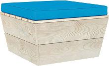 Cojin para otomana de pales tela azul claro