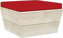 Cojin para otomana de pales tela rojo