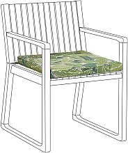 Cojín para silla de jardín verde SASSARI
