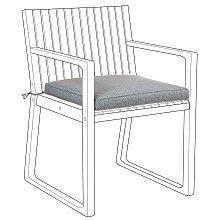 Cojin para silla SASSARI gris