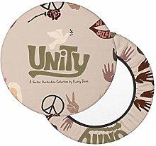 Cojín Taburete Unity Human Rights Round Bar