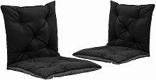 Cojines para balancin 2 unidades tela negro y gris