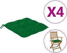 Cojines para silla 4 unidades verde 40x40x8 cm -