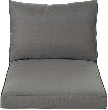 Cojines para sillón de jardín gris oscuro
