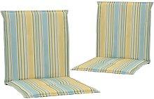 Cojines sillas de jardín 2 unidades multicolor