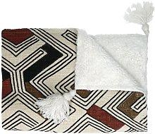 Colcha de algodón a rayas Toudou 160 x 130