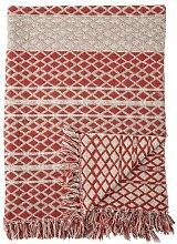 Colcha de algodón reciclado rojo Noilhan
