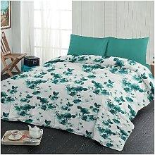 Colcha de flores - para la cama - Azul claro,