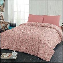 Colcha de flores - para la cama - Rosa, Blanco en