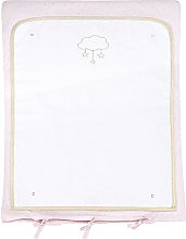 Colchón cambiador para bebé de algodón rosa y