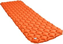 Colchón de aire inflable naranja 58x190 cm -
