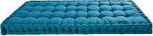 Colchón de algodón azul petróleo 90x190