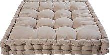 Colchón de algodón marrón 90x90 cm