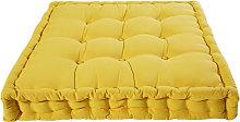 Colchón de algodón mostaza 90x90 cm