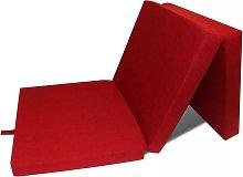 Colchón de espuma plegable en tres partes rojo