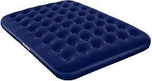 Colchón Hinchable Terciopelo 203x152x22 cm - Azul