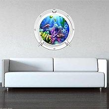 Color TROPICAL FISH AQUARIUM Ojo de buey pegatina