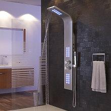 Columna de ducha de hidromasaje con iluminación