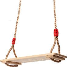 Columpio Asiento de madera 40x16x1.2cm Juguete de