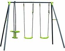 Columpio Jardin Infantil Verde 2 Columpios 1