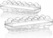 com-four® 2X Caja de Huevos para 12 Huevos -