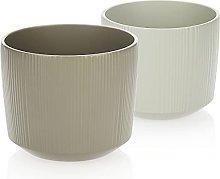 com-four® Maceta de cerámica 2X - Maceta para