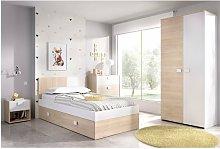 Completa habitacion Juvenil cama con cajones,