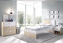 Completa habitacion Juvenil cama con mesita y